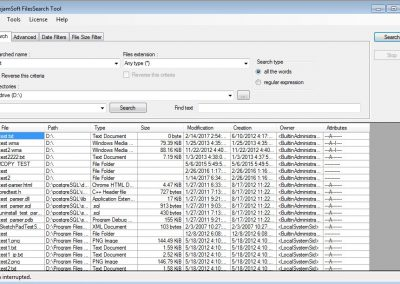 FilesSearch Tool: find lost files in seconds
